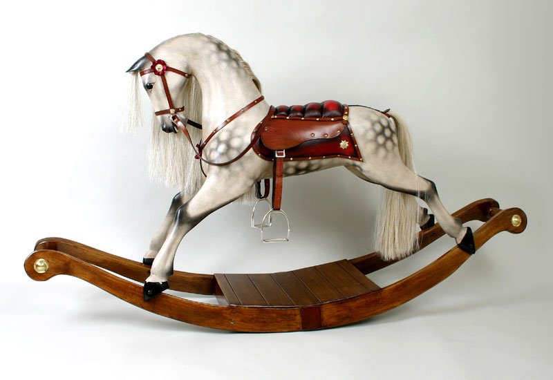lancaster rocking horse on bows